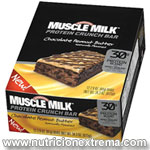 Muscle Milk Protein Crunch Bars - 12 barras con 30g de proteina. Cytosport - ¡Nuevo! Sabor natural Muscle Milk Protein Crunch Bars ®